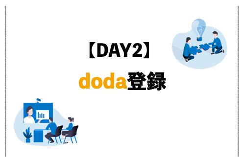DAY2:転職サイト「doda(デューダ)」に登録。いきなりの電話にびっくり!
