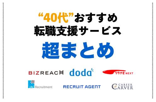 【超まとめ】40代おすすめの転職サイト・転職エージェント